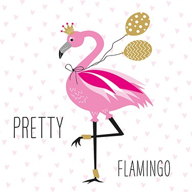 SERVIETTEN PRETTY FLAMINGO