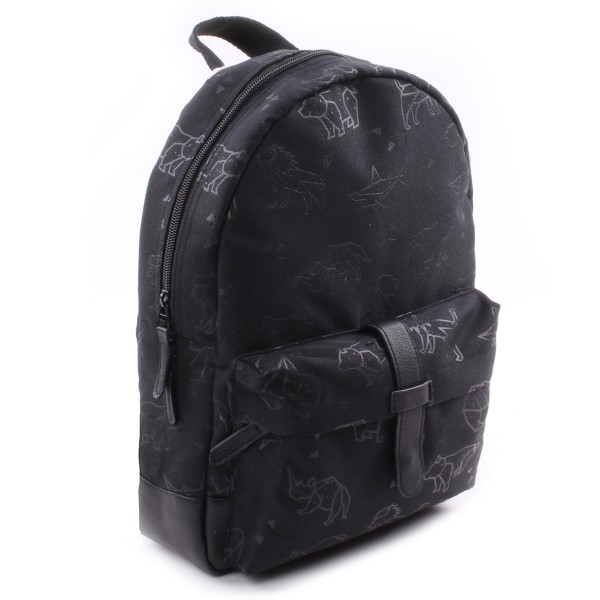KINDERRUCKSACK TOTALLY BLACK ANIMALS