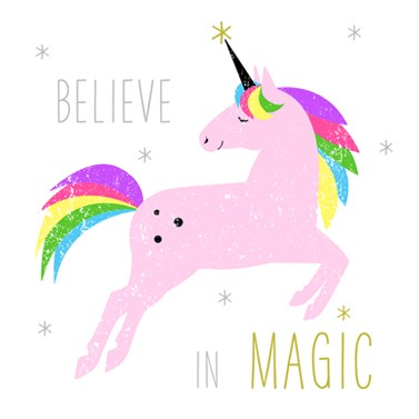 SERVIETTEN UNICORN / EINHORN / BELIEVE IN MAGIC