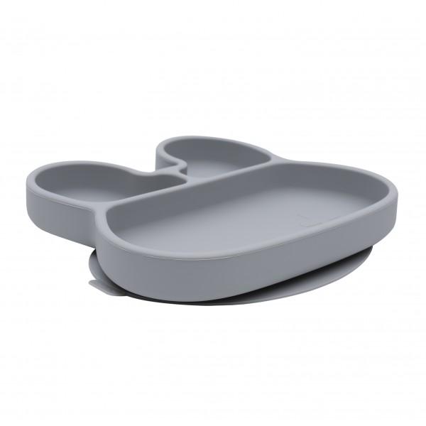 TELLER `STICKIE PLATE` HASE GRAU