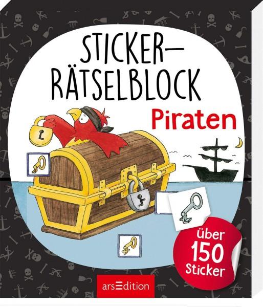 STICKER RÄTSELBLOCK PIRATEN - AB 4 J.